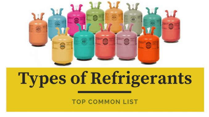 Types of Refrigerants