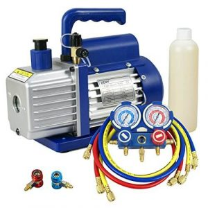 ZENY 3.5CFM Single-Stage Rotary Vane Vacuum Pump