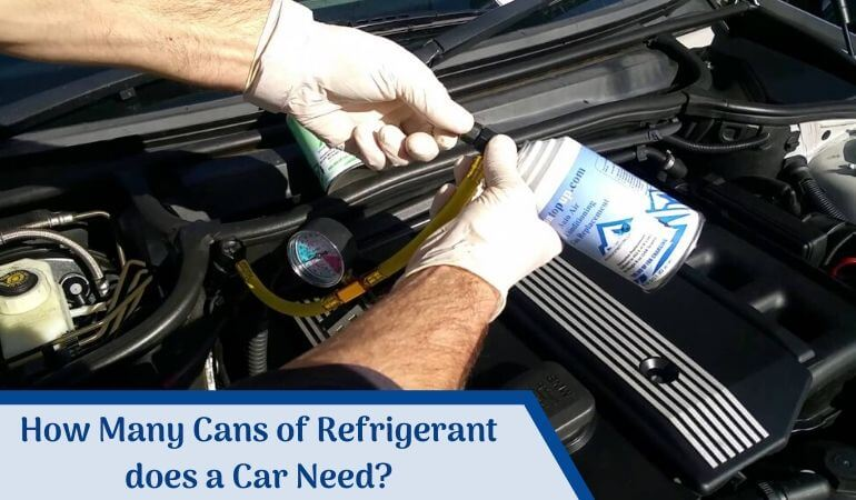 How many cans of refrigerant does a car need_